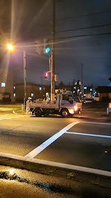 20200708夜遅く東大通り電気工事1