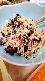 20200709お昼ご飯キャベツやかにかま生キクラゲのサラダ