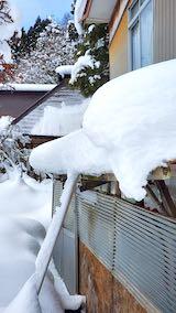 20210112作業小屋の雪下ろし前の様子1
