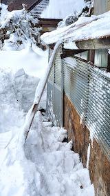 20210112作業小屋の雪下ろし後の様子1
