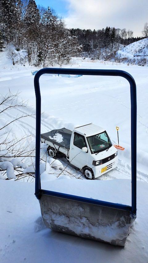 20210112作業小屋の雪下ろし前の様子3