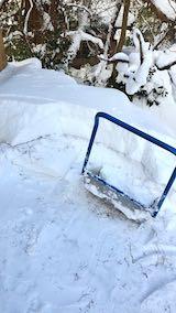 20210112作業小屋の雪下ろし途中の様子
