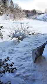 20210112作業小屋の雪下ろし後の様子2