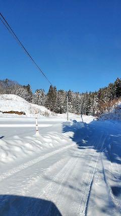 20210112山からの帰り道峠道へ向かう道路から