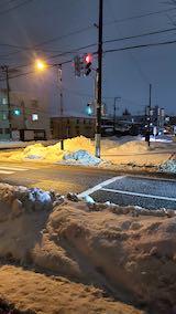 20210113外の様子夜のはじめ頃雨雪が降り出す2