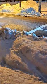20210113外の様子夜のはじめ頃雨雪が降り出す3