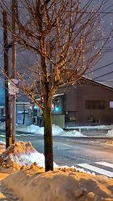 20210113外の様子夜のはじめ頃雨雪が降り出す1