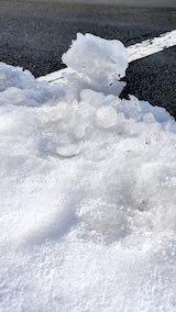 20210115外の様子昼前雪寄せ後にとけ再び凍結