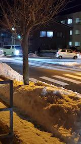 20210115外の様子夕方歩道と東大通り
