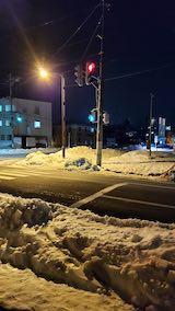 20210115外の様子夜のはじめ頃歩道と東大通り