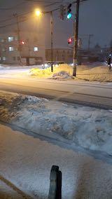 20210116外の様子夕方雪が降り出す1