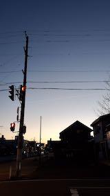 20210405外の様子夕方西の空