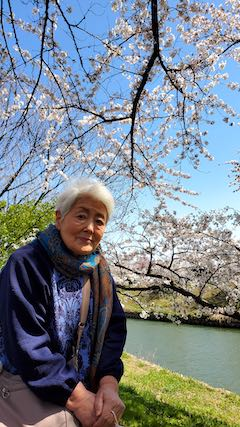 20210411外の様子昼過ぎ楢山川口境の太平川の桜2
