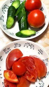 20210823晩ご飯トマトサラダ