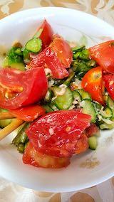 20210824お昼ご飯トマトとキュウリのサラダ