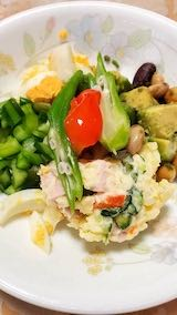 20210830お昼ご飯野菜サラダ
