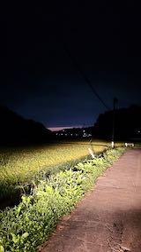 20210901山からの帰り道田んぼと空