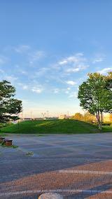 20210903速歩へ向かった公園内と南西の空