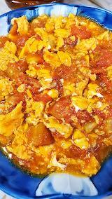 20210903お昼ご飯トマトと玉子のスープ