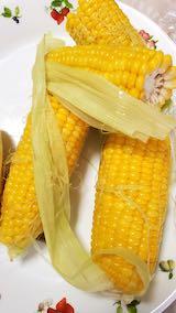 20210903お昼ご飯トウモロコシ