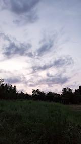 20210903外の様子夕方山