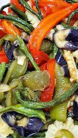 20210910お昼ご飯夏野菜の素揚げ