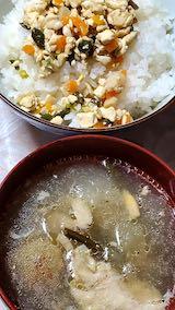 20210910晩ご飯炒り豆富ご飯