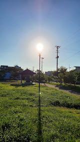 20210911速歩途中の公園内と東の空