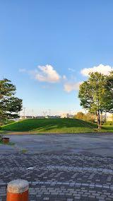 20210912速歩へ向かった公園内と南西の空