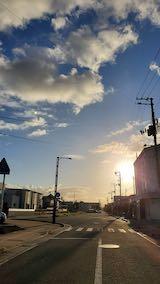 20210913速歩へ向かう途中の歩道と東の空