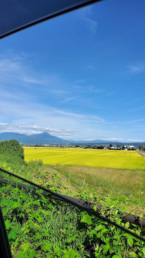20210913会津美里町から望む会津磐梯山