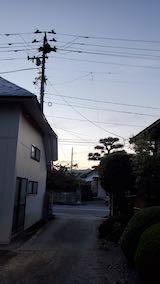 20210913外の様子夕方東の空1