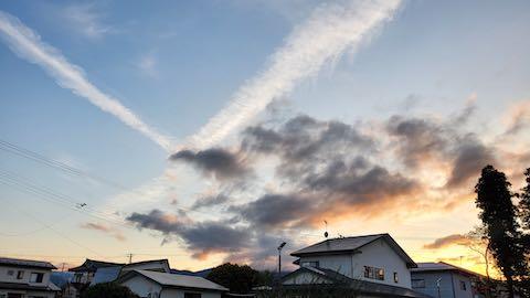 20210916外の様子夕方会津西の空