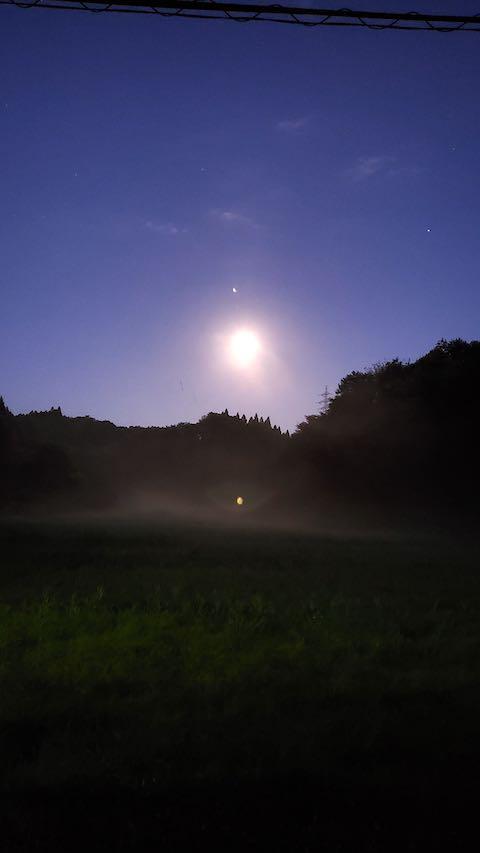 20210918山からの帰り道お月さま